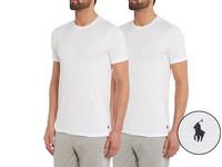 2x Ralph Lauren Basic T-Shirts | Wit
