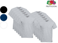 12x Fruit of the Loom V-hals Value Weight Shirts