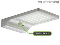The White Series LED Floodlight met Zonnepaneel